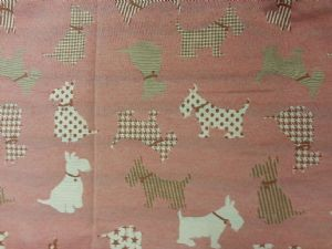 SCOTTIE DOG  PANEL DOUBLE SIDED 145cm x 60cm - FABRIC - 55% POLYESTER AND 45% COTTON